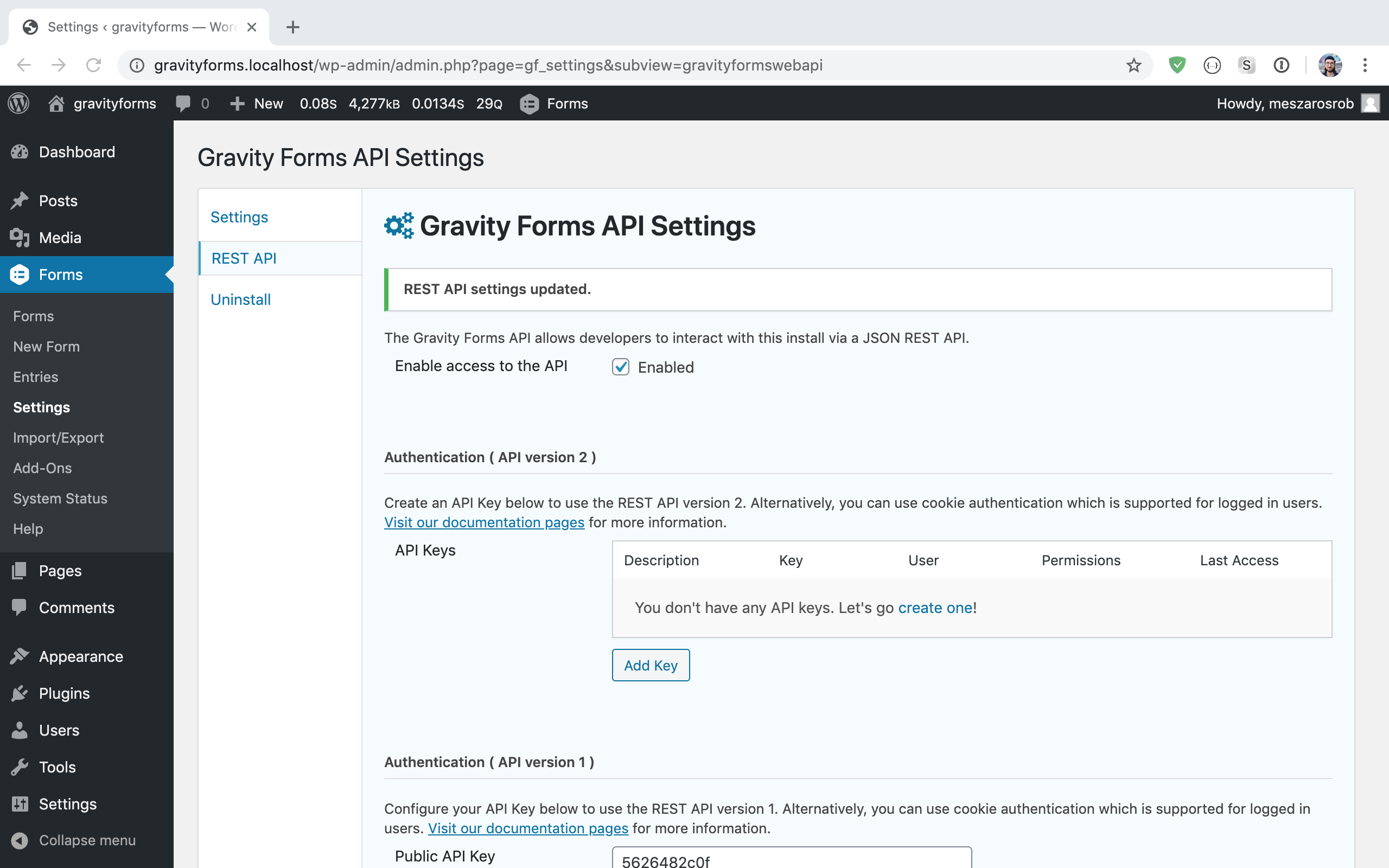 Enabling the Gravity Forms REST API
